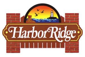 Harbor Ridge New Entrance Sign